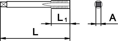 "GAS (BSP) SET OF 2 TAPS 1/8"" × 28"