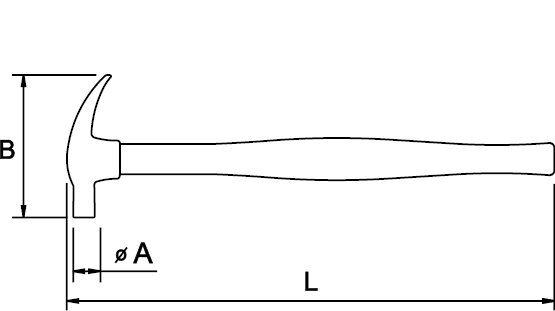 AMERICAN CLAW HAMMER FIBERGLASS HANDLE 21 MM