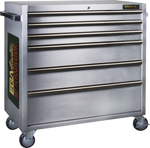 ROLLER CABINET 6 DRAWERS STAINLESS STEEL 1056 × 470 × 1110 MM