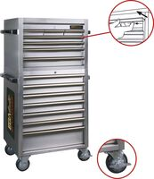 ROLLER CABINET 14 DRAWERS STAINLESS STEEL 680 × 470 × 1420 MM