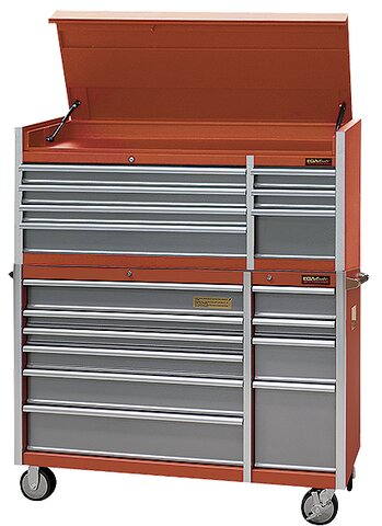 CABINET AND TOOL CHEST 17 DRAWERS RED COLOUR 1434 × 560 × 1719 MM